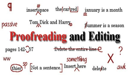 Online proofreading and copy-editing services